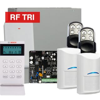 BOSCH, Solution 3000, Wireless Alarm kit, Includes ICP-SOL3-P panel, IUI-SOL-ICON keypad, 2x RFDL-11 Wireless Tri-Tech detectors, B810 Wireless receiver, 2x HCT4UL transmitters,
