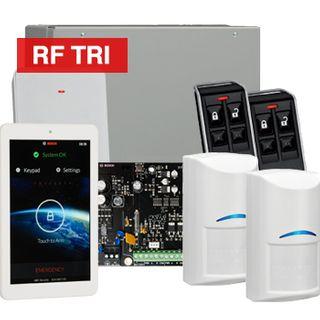 "BOSCH, Solution 3000, Wireless Alarm kit, Includes ICP-SOL3-P panel, IUI-SOL-TS7 7"" LCD Touchscreen keypad, 2x RFDL-11 Wireless Tri-Tech detectors, B810 Wireless receiver, 2x RFKF-FB transmitters"