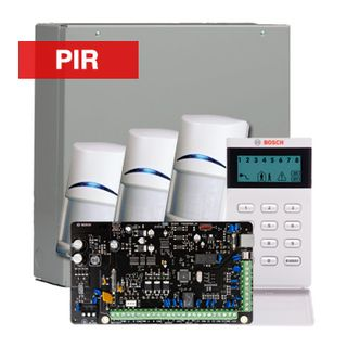 BOSCH, Solution 3000, Alarm kit, Includes ICP-SOL3-P panel, IUI-SOL-ICON LCD keypad, 3x ISC-BPR2-W12 PIR detectors,