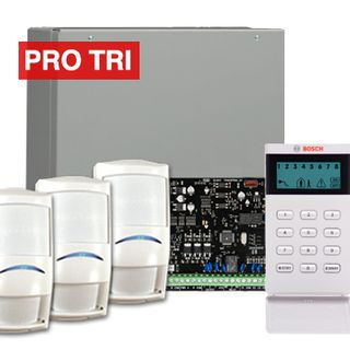 BOSCH, Solution 3000, Alarm kit, Includes ICP-SOL3-P panel, IUI-SOL-ICON LCD keypad, 3x ISC-PDL1-W18G PRO TriTech detectors