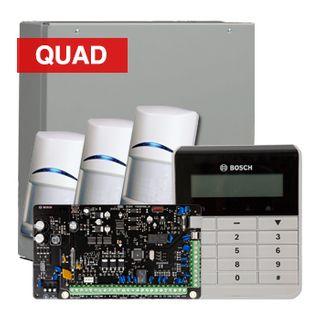 BOSCH, Solution 3000, Alarm kit, Includes ICP-SOL3-P panel, IUI-SOL-TEXT Alphanumeric LCD keypad, 3x ISC-BPQ2-W12 PIR detectors