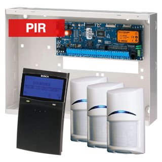 BOSCH, Solution 6000, Alarm kit, Includes CC600PB panel, CP732B LCD black keypad, 3x ISC-BPR2-W12 PIR detectors