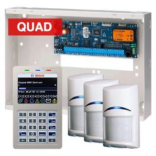 BOSCH, Solution 6000, Alarm kit, Includes CC600PB panel, CP700B LCD keypad, 3x ISC-BPQ2-W12 PIR detectors