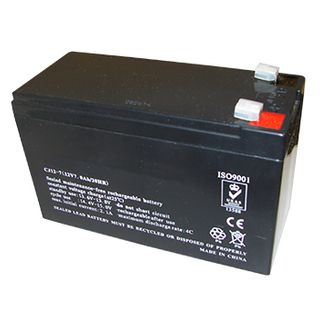 BATTERY, 12 Volt 7 AH sealed lead acid, Dimensions (not inc. terminals) 150(W)mm x 64(D)mm x 93(H)mm