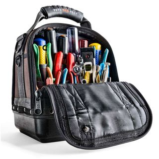 VETO PRO PAC, Contractor Series, Large HVAC technician tool bag, Closed style, 20 tiered pockets, 2 zippered pockets, Weather resistant base & fabric, 254(L) x 203(W) x 318(H)mm