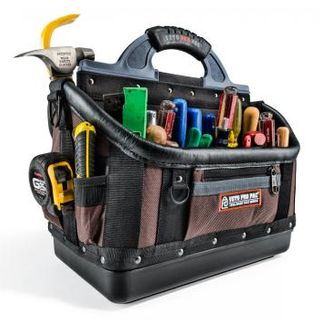 VETO PRO PAC, Contractor Series, Extra-large HVAC technician tool bag, Open style, 40 tiered pockets, 4 zippered pockets, Weather resistant base & fabric, 419(L) x 241(W) x 432(H)mm,