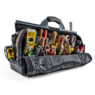 VETO PRO PAC, Contractor Series, Extra-length large HVAC technician tool bag, Closed style, 47 tiered pockets, 7 zippered pockets, Weather resistant base & fabric,  648(L) x 241(W) x 432(H)mm
