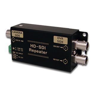XTENDR, HD-SDI repeater, HD-SDI 1080P input, looping output, extends HD-SDI for a further 85/160m, 76(W) x 42(H) x 24(D)mm, 12V DC, 1.7W