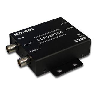 XTENDR, HD-SDI to CVBS converter, HD-SDI 1080P input, CVBS composite video output, 88(L) x 89(W) x 23(H)mm, 12V DC. 300mA (max)