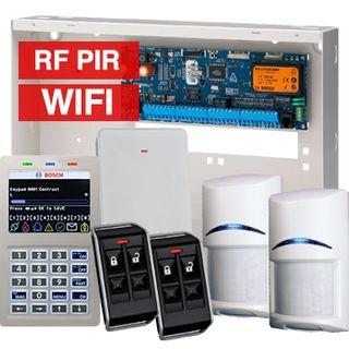 BOSCH, Solution 6000, Wireless alarm kit, Inc CC600PB panel, CP741B LCD WIFI keypad, 2x RFPR-12  wireless PIR detectors, RFRC-STR2 Radio receiver, 2x RFKF-FB transmitters