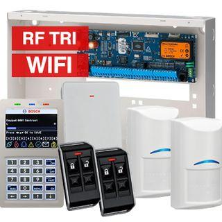 BOSCH, Solution 6000, Wireless alarm kit, Inc CC600PB panel, CP741B LCD WIFI keypad, 2x RFDL-11 wireless Tritech detectors, RFRC-STR2 Radion receiver, 2x RFKF-FB transmitters
