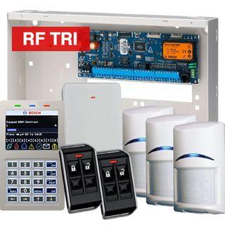 BOSCH, Solution 6000, Wireless alarm kit, Inc CC600PB panel, CP722B Smart Prox LCD keypad, 3x RFDL-11 wireless Tritech detectors, RFRC-STR2 Radion receiver, 2x RFKF-FB transmitters