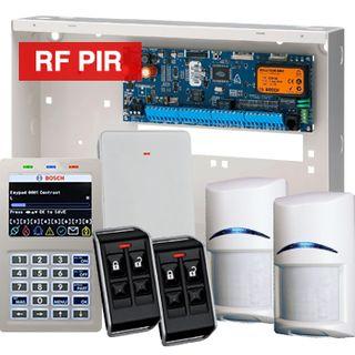 BOSCH, Solution 6000, Wireless alarm kit, Inc CC600PB panel, CP722B Smart Prox LCD keypad, 2x RFPR-12  wireless PIR detectors, RFRC-STR2 Radion receiver, 2x RFKF-FB transmitters