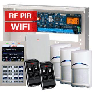 BOSCH, Solution 6000, Wireless alarm kit, Inc CC600PB panel, CP741B LCD WIFI keypad, 3x RFPR-12 wireless PIR detectors, RFRC-STR2 Radion receiver, 2x RFKF-FB transmitters