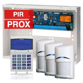 BOSCH, Solution 6000, Alarm kit, Includes CC600PB panel, CP722B Proximity alphanumeric LCD keypad, 3x ISC-BPR2-W12 pir detectors.