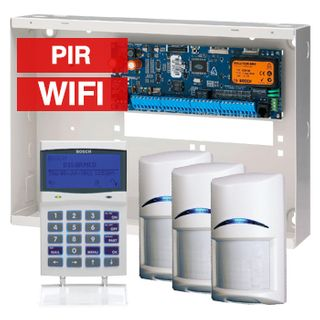 BOSCH, Solution 6000, Alarm kit, Includes CC600PB panel, CP741B LCD WIFI keypad, 3x ISC-BPR2-W12 PIR detectors