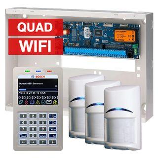 BOSCH, Solution 6000, Alarm kit, Includes CC600PB panel, CP741B WIFI LCD keypad, 3x ISC-BPQ2-W12 PIR detectors
