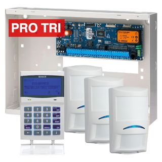 BOSCH, Solution 6000, Alarm kit, Includes CC600PB panel, CP722B Smart Prox LCD keypad, 3x ISC-PDL1-W18G PIR detectors