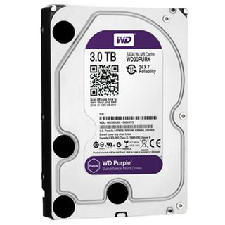 "WESTERN DIGITAL, WD Purple Surveillance Edition (24/7) hard drive (HDD), 3000Gb (3TB), 64MB Cache, 5400RPM, 3.5"" form factor, SATA 6 Gb/s interface"