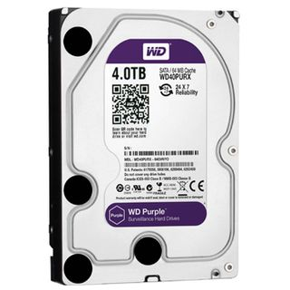 "WESTERN DIGITAL, WD Purple Surveillance Edition (24/7) hard drive (HDD), 4000Gb (4TB), 64MB Cache, 5400RPM, 3.5"" form factor, SATA 6 Gb/s interface"