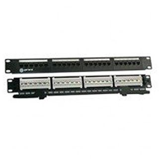 "GARLAND, Patch panel, 24 port, Cat6, 19"" 1RU, 48(W) x 44(H) x 98(D)mm, Dark charcoal powder coated finish, Cold rolled steel construction"