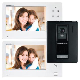 AIPHONE, JO Series, Intercom bundle, Includes 1x JOS1A intercom kit (Master station, surface mount plastic door station & power supply) and 1x JO1FD room substation