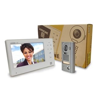 AIPHONE, JO Series, Video intercom kit, Colour, Hands free, Includes 1 x JO1MD master station, 1 x JODV surface mount vandal door station, 1x power supply