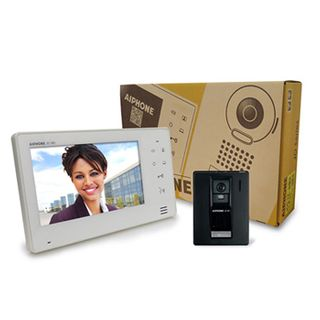 AIPHONE, JO Series, Video intercom kit, Colour, Hands free, Includes 1 x JO1MD master station, 1 x JODA surface mount plastic door station, 1x power supply