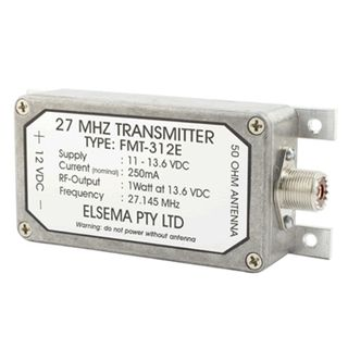 ELSEMA, Transmitter, 1 Channel, With alloy case, 27MHz FM signal, Up to 3km range, Requires X15 antenna, 11 - 13.6V DC