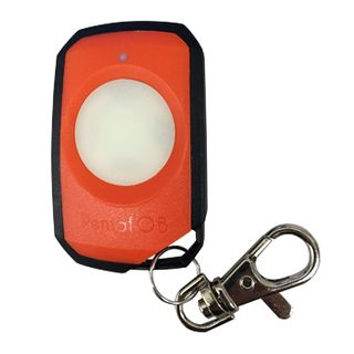 ELSEMA, PentaFOB Transmitter, 1 Channel, Large button, Hand held pendant/keyring, 433 MHz FM signal, Includes 3.3V battery, Orange