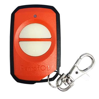 ELSEMA, PentaFOB Transmitter, 2 Channel, Hand held pendant/keyring, 433 MHz FM signal, Includes 3.3V battery, Orange