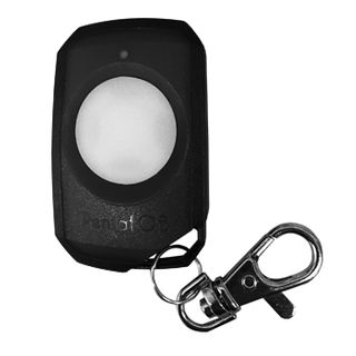 ELSEMA, PentaFOB Transmitter, 1 Channel, Large button, Hand held pendant/keyring, 433 MHz FM signal, Includes 3.3V battery, Black