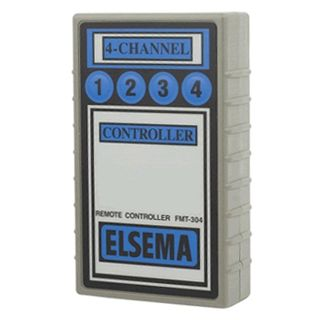 ELSEMA, Transmitter, 4 Channel, Hand held, 27MHz FM signal, With label, Requires 9V battery,