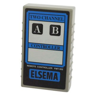 ELSEMA, Transmitter, 2 Channel, Hand held, 27MHz FM signal, With label, Requires 9V battery