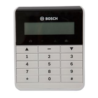 BOSCH, Solution 2000 & 3000, Key pad, Alphanumeric LCD, White, Touch tone & backlit keys, Suits Solution 2000 & 3000 panel,