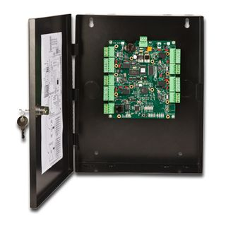 KERI, NXT series, Network proximity controller, Keri NXT format, 4 door capable, Connects to TCP/IP network, Uses RS485 secure readers, Up to 50000 users, 10000 event buffer, 10-14V DC 650mA