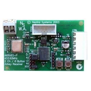 AIRKEY, Receiver, Two channel, Maximum security, Plug-in terminal, Stores up to 340 2 or 4 button Airkey transmitters, 12V DC,
