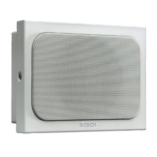 BOSCH, Metal Panel speaker, Vandal resistant, Flush or Surface mount, 6W, Dual cone design, includes white metal grille, 100V line (Taps at 0.75, 1.5, 3,6 W)