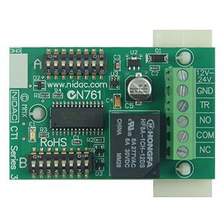 NIDAC, Universal timer, + or - trigger input, Time out or time to operate selectable, 10 Timing options, 12/24V DC, Output SPDT 5A relay,