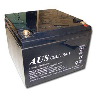 BATTERY, 12 Volt 26 AH sealed lead acid, Dimensions (not inc. terminals) 165(W)mm x 174(D)mm x 124(H)mm,