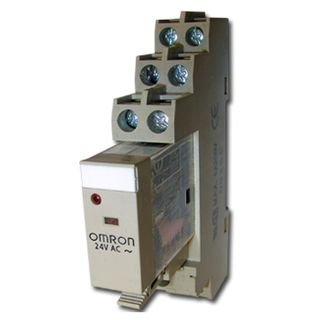 OMRON, Relay, 24V AC, DPDT, 240V AC 5A contacts with barrier isolation, Includes 1078YK base,