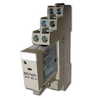 OMRON, Relay, 24V DC, DPDT, 240V AC 5A contacts with barrier isolation, Includes 1078YK base,