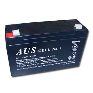 BATTERY, 6 Volt 7 AH sealed lead acid, Dimensions (not inc. terminals) 150(W)mm x 34(D)mm x 93(H)mm,