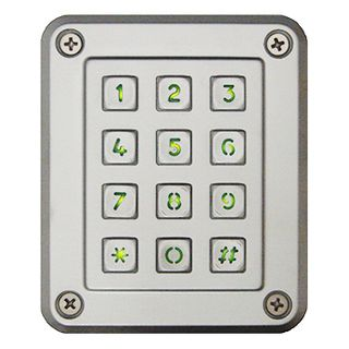 NIDAC (Presco), Keypad, vandal and weather resistant, Backlit keys, compatible with all Presco decoders (PAC1-PAC2)