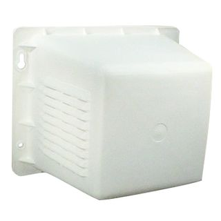 TAG, Siren cover, White ABS plastic, Pre drilled for strobe, Includes siren and tamper mount,