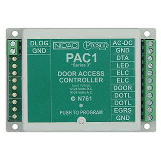 NIDAC (Presco), Decoder (600 Users series 3), Up to 10 encoders can be connected to one decoder, 5 amp relay contact, 4 units can be connected to one DataLogger,