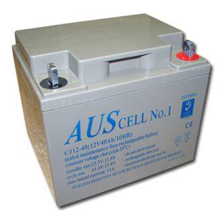 BATTERY, 12 Volt 40 AH sealed lead acid, Dimensions (not inc. terminals) 195(W)mm x 165(D)mm x 167(H)mm,