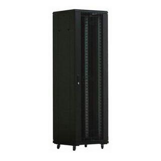 """PSS, 42RU 19"""" Server Rack Cabinet, Floor mount, 800 (w) x 1000 (d) x 2055mm (h), With detachable castors & stablizers, Dark grey, Vented front and rear doors"""