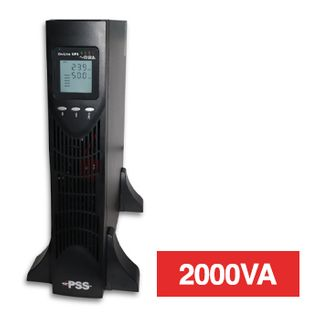 PSS, Enduro series UPS, 2000VA, Double conversion, True online, Includes battery pack for 11min back up time,