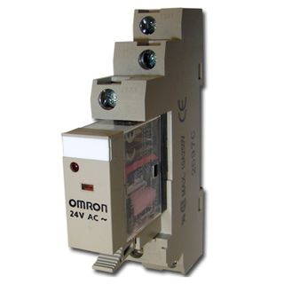 OMRON, Relay, 24V AC, SPDT, 240V AC 10A contacts with barrier isolation, Includes 1078YK base,